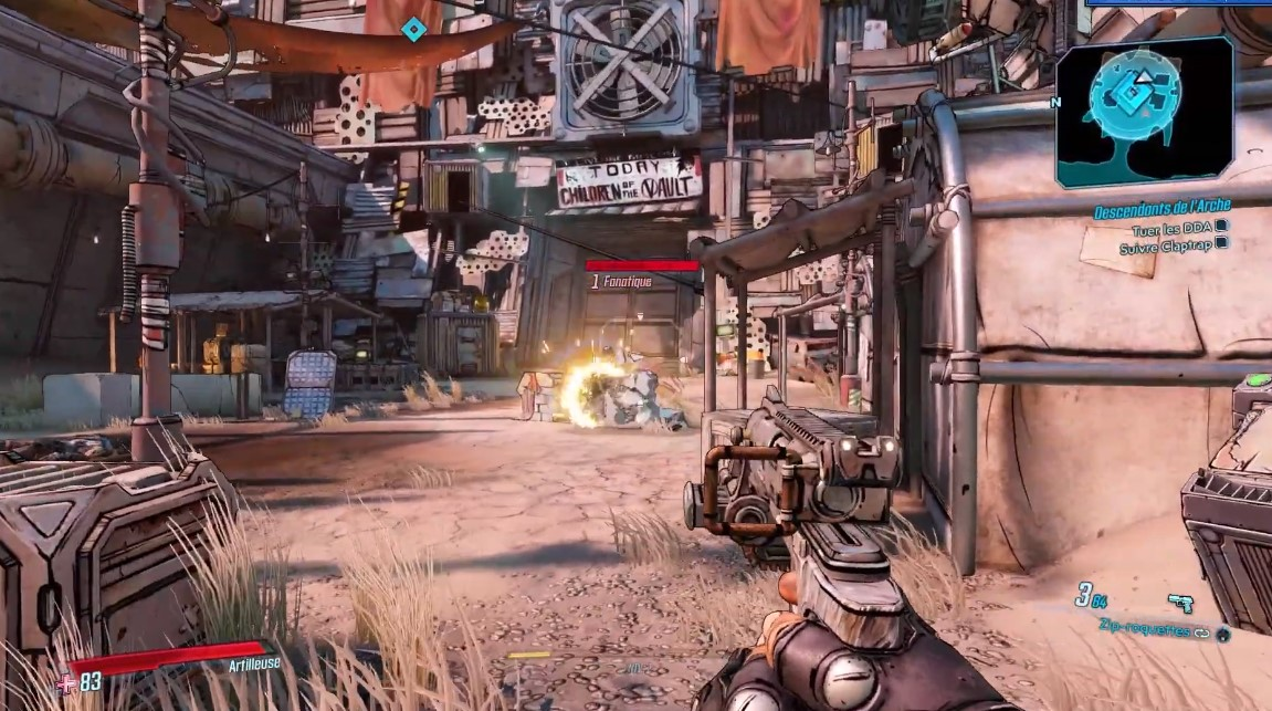 Artefact v1 performances sur Borderlands 3 PC gamer