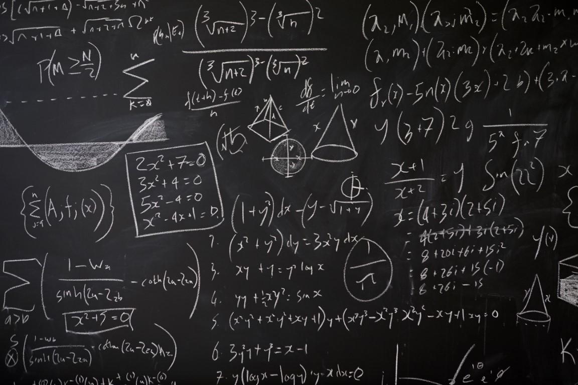 Calculs et statistiques sur un tableau noir
