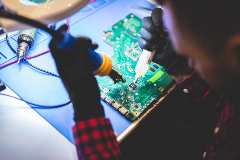 Réparation de carte mère et composants informatiques